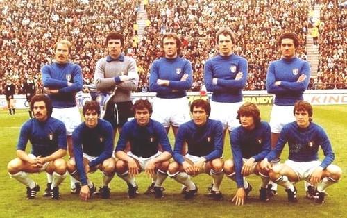 L'Italia che scese in campo contro la Francia.