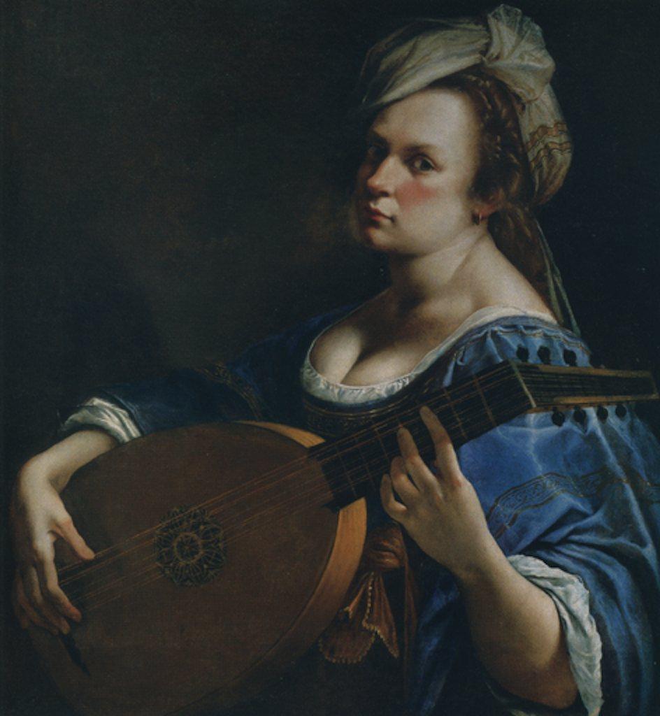 Artemisia Gentileschi. Autoritratto come suonatrice di liuto. 1615-17 ca.