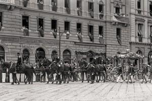 Le salme dell'arciduca e della moglie a Trieste, 2 luglio 1914.