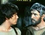 """Ulisse e Telemaco a confronto. L'immagine è tratta da """"Le avventure di Ulisse"""", uno sceneggiato televisivo a puntate coprodotto e trasmesso dalla RAI nel 1968."""
