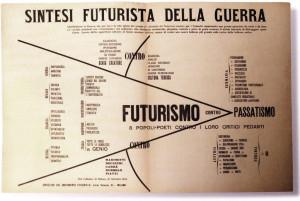 Sintesi futurista della guerra. Concepita a San Vittore.