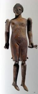 Bambola snodabile in terracotta