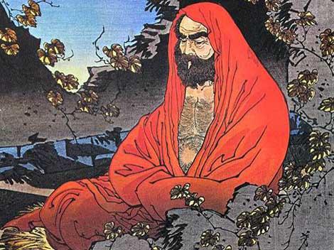 Un'immagine di Bodhidharma