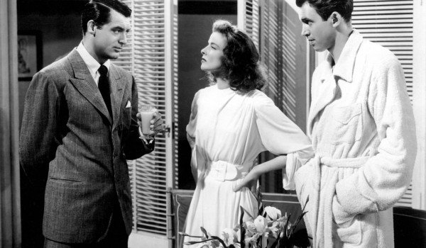 """Cary Grant, James Stewart e Katharine Hepburn in """"Scandalo  a Filadelfia"""" di George Cukor"""