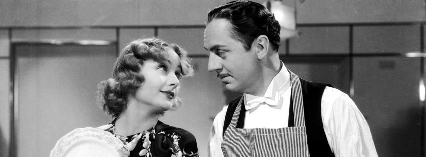 """Carole Lombard e William Powell in """"My man Godfrey - L'impareggiabile Godgrey"""" di Gregory La Cava"""