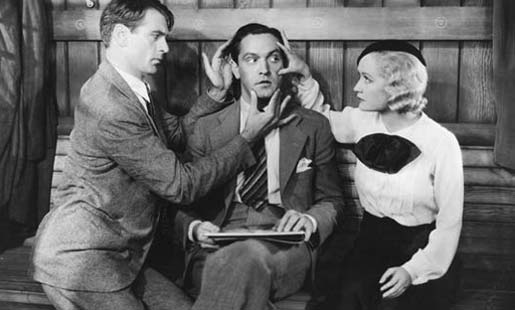 "Gary Cooper, Fredrich March e Miriam Hopkins in ""Design for living - Partita a quattro"" di Ernst Lubitsch"
