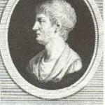 Gaio Sallustio Crispo rappresentato in un'incisione.