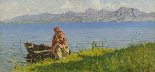 TOMMASI La barcaiola sul lago di massaciuccoli