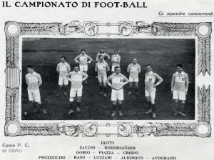 Il Como partecipante al girone semifinale D. Una sola vittoria in sei partite.