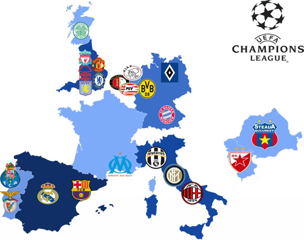Vincitori della Champions League (Coppa dei Campioni)