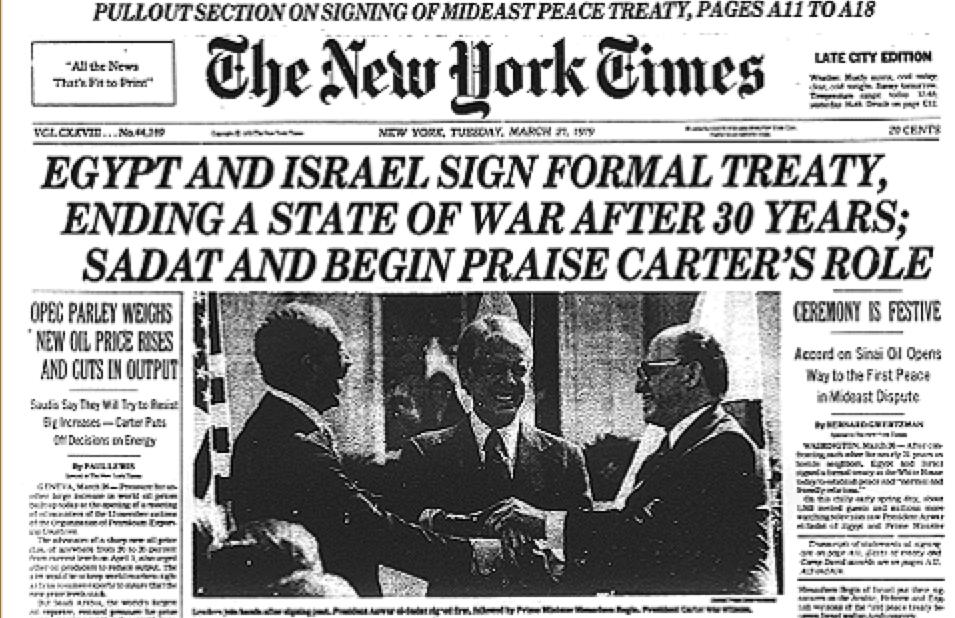 Prima pagina del New York Times del 27 marzo '79