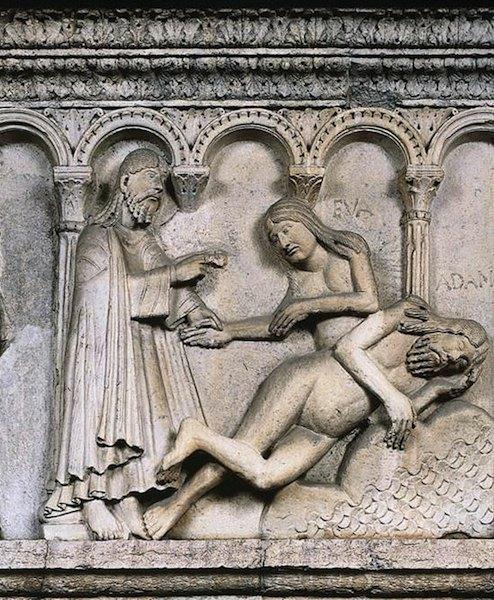 Duomo di Modena, La creazione di Eva.