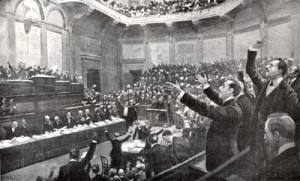 La storica e tragica seduta del 20 maggio con cui la Camera dei deputati abdicò alle proprie responsabilità verso il paese.