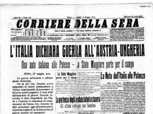 Il Corriere della Sera del 24 maggio 1915.