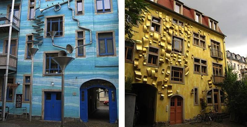 Dresda, la casa che suona con la pioggia.