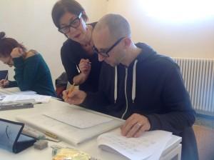 L'artista calligrafa Maria Pia Montagna insegna il foundational