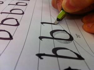 prove di calligrafia nelle scuole