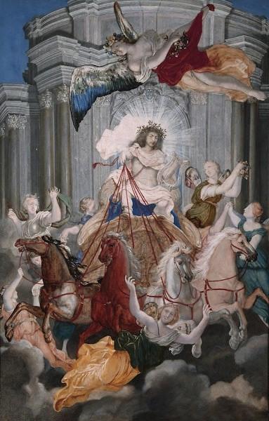 Joseph Werner, Allegoria di Luigi XIV come Apollo, Castello di Versailles