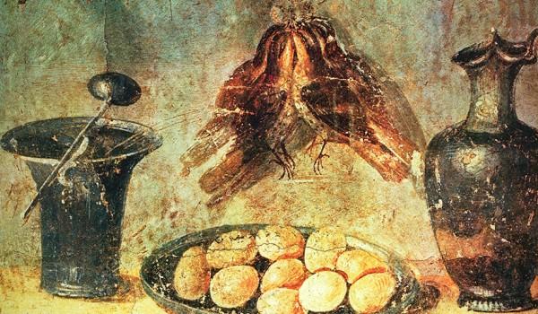 Natura morta con uova, Casa di Julia Felix, Pompei