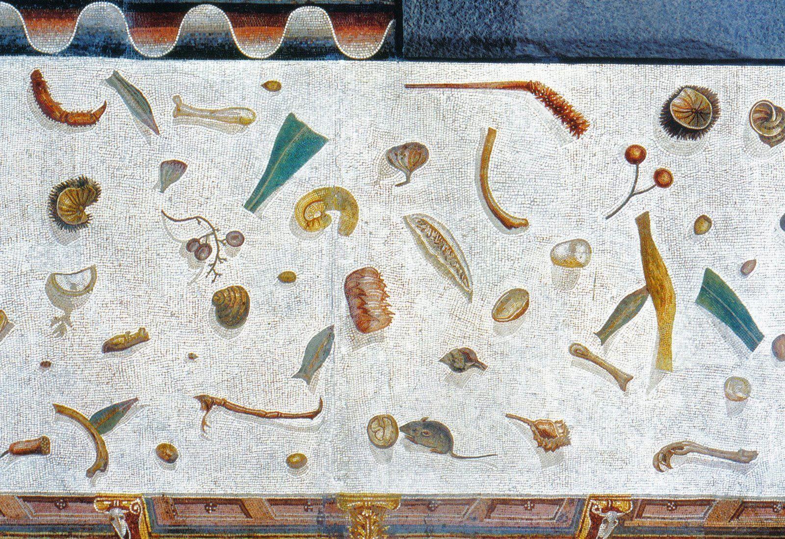 Mosaico con pavimento non spazzato, Musei Vaticani, Roma