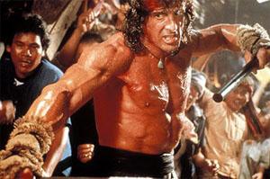 Alzi la mano chi ha mai visto Rambo trombare
