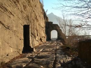Strada consolare romana in Val d'Aosta.