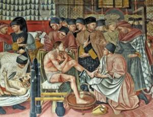 Domenico di Bartolo, Cura degli ammalati, Santa Maria della scala, Siena.