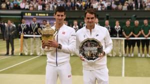Finale maschile 2015. Vittoria di Djokovic su Federer.