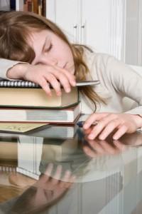 Bored-Girl-Snoozes-Homework