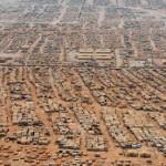 An aerial view of the Zaatari refugee camp in Jordan