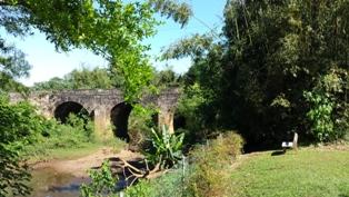Il ponte appena attraversato.Ivoti