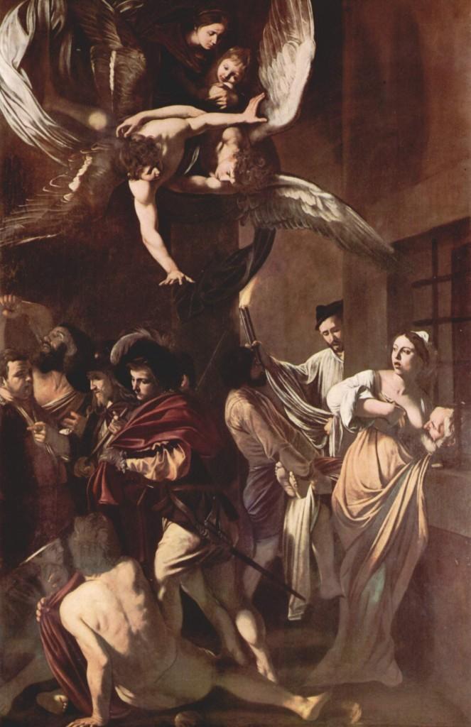Michelangelo Merisi da Caravaggio – 1606 -1607 – olio su tela – 390 cm x 260 cm – Pio Monte della Misericordia, Napoli.