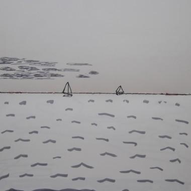 Barche a vela all'orizzonte
