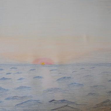 Alba sul mare increspato