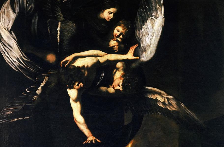 Gruppo Celeste - Madonna della Misericordia con Bambino e angeli