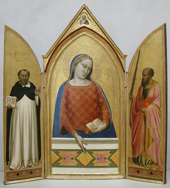 Bernardo Daddi, Madonna del parto, Museo dell'opera del Duomo. Firenze