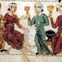 1_Somministrazione di una pozione di more contro i mestrui dolorosi - miniatura da Medicina Antiqua