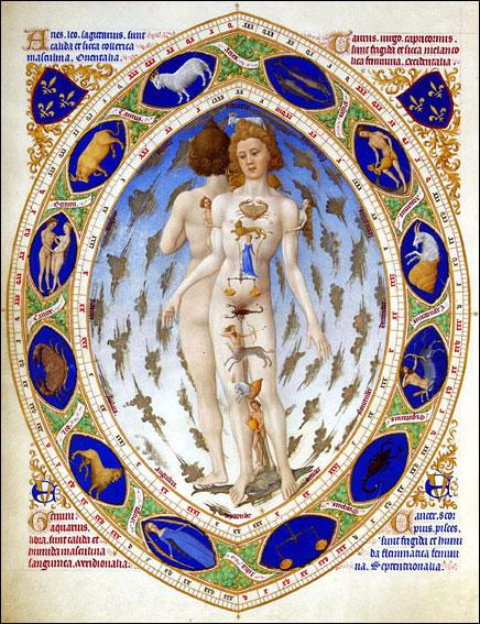 Fratelli Limbourg, Uomo zodiacale, Très riches heures du duc de Berry