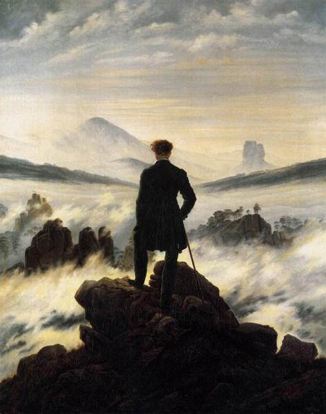 Caspar David Friedrich - Il viandante sul mare di nebbia
