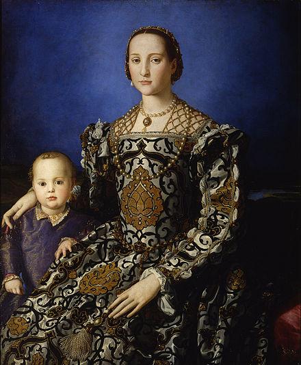 Eleonora da Toledo con il figlio Giovanni – Bronzino –Olio su tela 1545