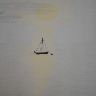 Sailboat in sunshine