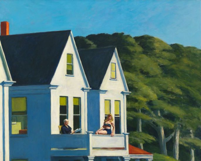 Edward hopper- Second storysunlight - 1960