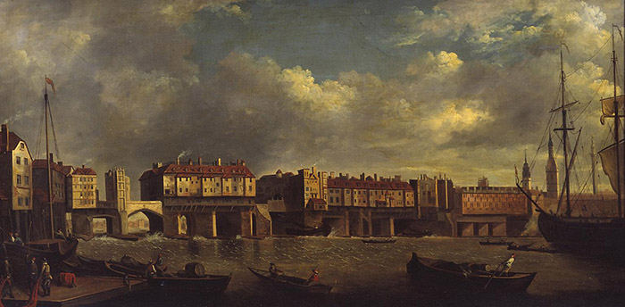 Daniel Turner , Old London Bridge, Tate gallery, Londra
