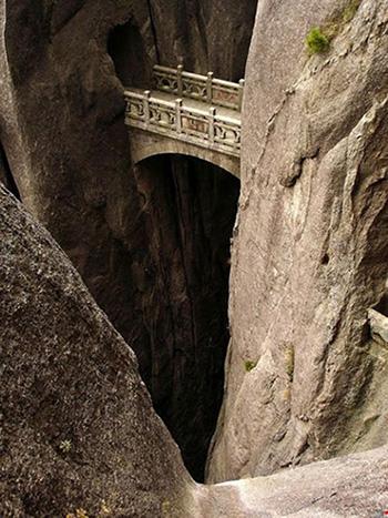 Ponte degli immortali, Huangshan, Cina