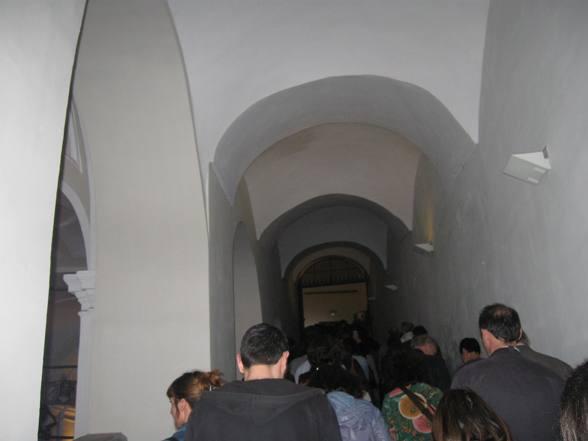 La Notte dei Filosofi. Il pubblico all'interno del Complesso monumentale di San Domenico Maggiore.