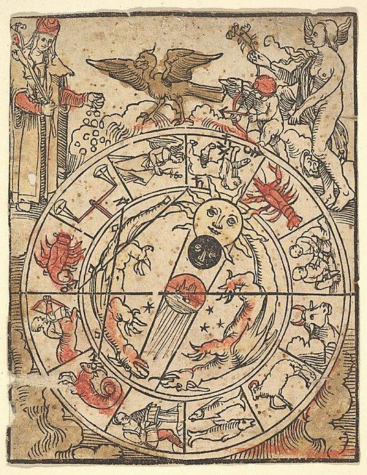 Hans Baldung Grien, Carta dei segni dello zodiaco, Metropolitan Museum, New York