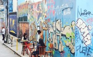 I murales lungo i vicoli del centro di Rio