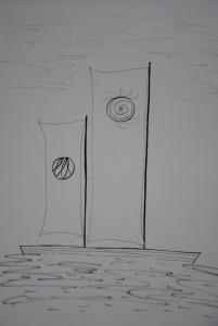 Sun and Moon sailboat