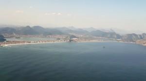 Le curve sinuose di Rio prima dell'atterraggio