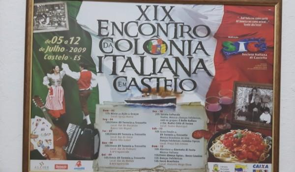 Ricordi delle edizioni passate della Festa Italiana, SIC- Società Italiana di Castelo, ES, Brasile
